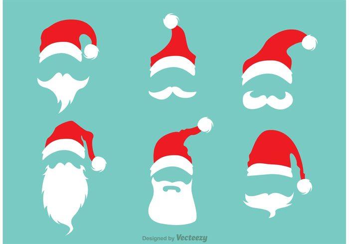 xmas winter season santas hat santas cap santa s beard santa claus santa cap  vector santa cap bca243dec01e
