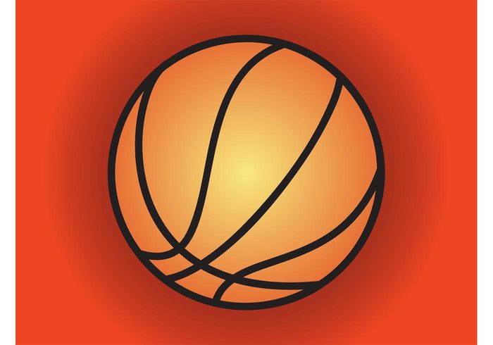 stylized sport Simplified poster play NBA minimal logo game flyer Championship basketball vector ball