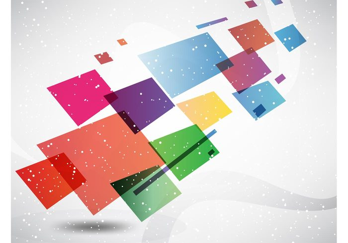 vector elements surreal square shapes rectangle perspective motion free backgrounds Design footage colorful box abstract