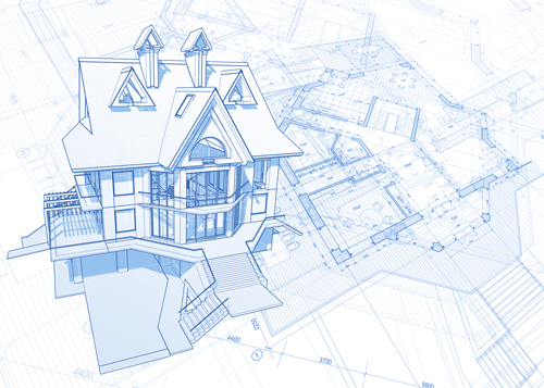 House building blueprint design vector 05 welovesolo malvernweather Gallery