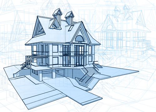 House building blueprint design vector 04 welovesolo malvernweather Image collections
