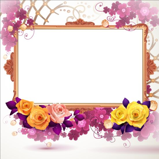 Classical frame with flower design 08 - WeLoveSoLo