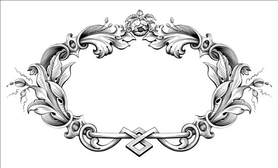 Baroque ornaments frame vector - WeLoveSoLo