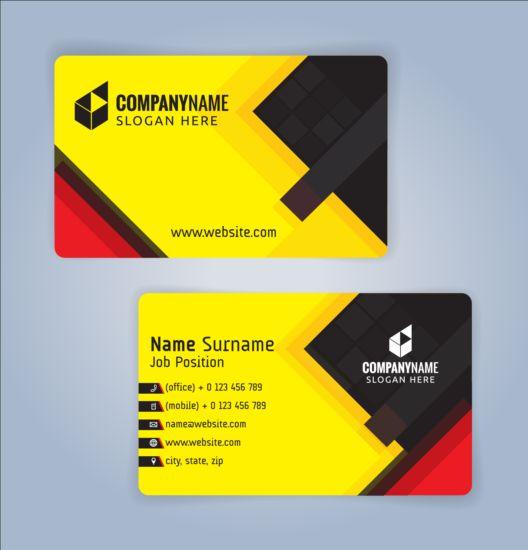 Creative business card black with yellow vector 02 welovesolo colourmoves