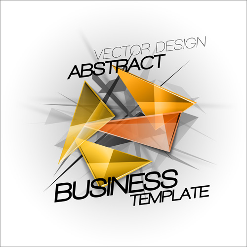 triangles template business abstract