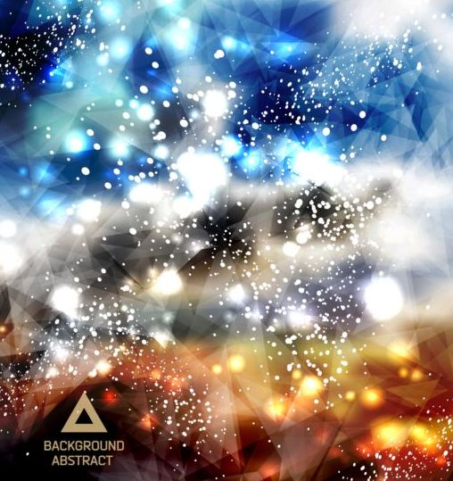 triangle light dots Complicated background