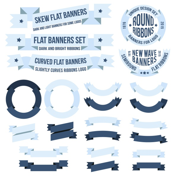 Ribbon frame with banners vintage vector - WeLoveSoLo