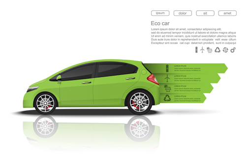 infographic creative car