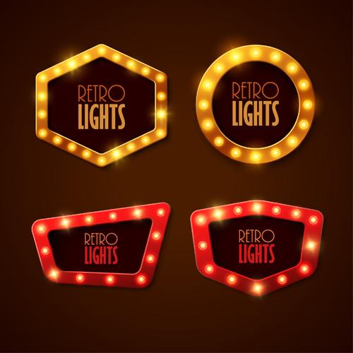 neon light labels advertising & Neon light advertising labels vector 03 - WeLoveSoLo