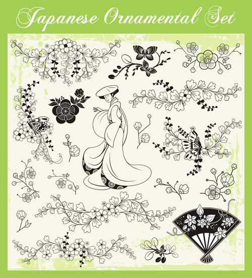 styles ornaments Japanese design