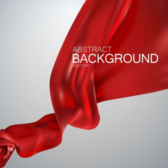 silk red fabric background