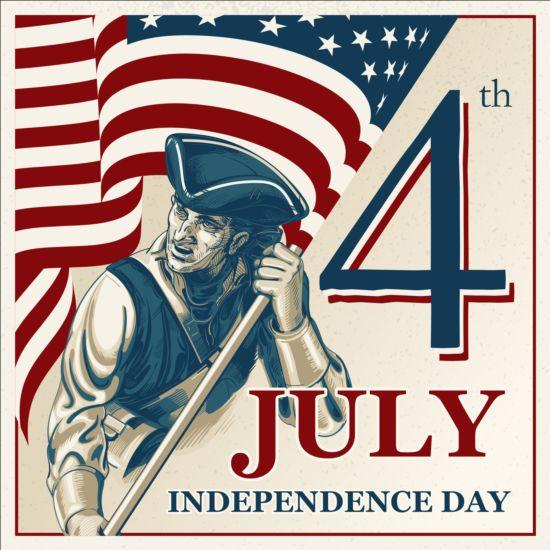 vintage Independence background