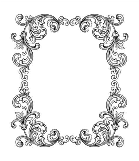 Baroque scroll frame vector - WeLoveSoLo