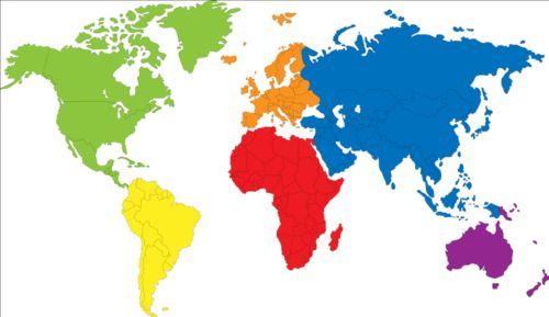 Simple color world map vector 02 welovesolo gumiabroncs Choice Image