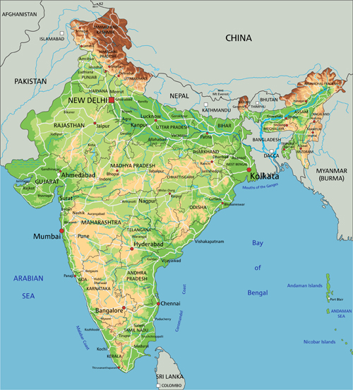 India physical map vector graphics welovesolo physical map india graphics gumiabroncs Image collections