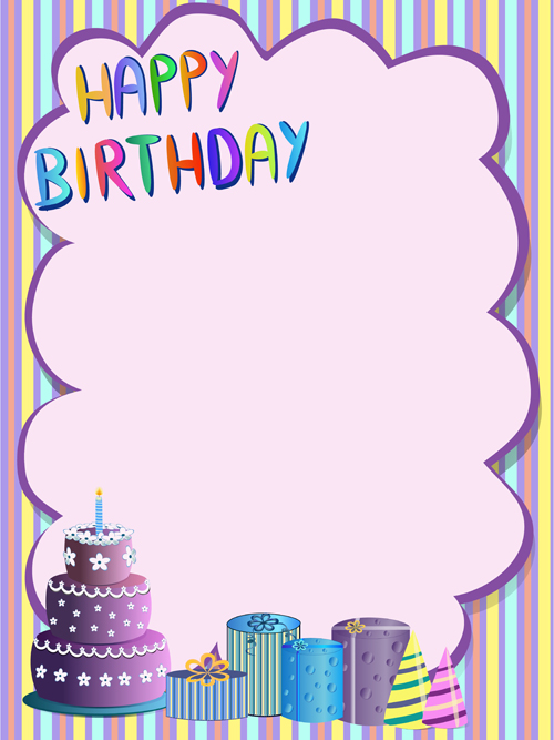 Cute Happy Birthday Greeting Card Vector 01 Welovesolo