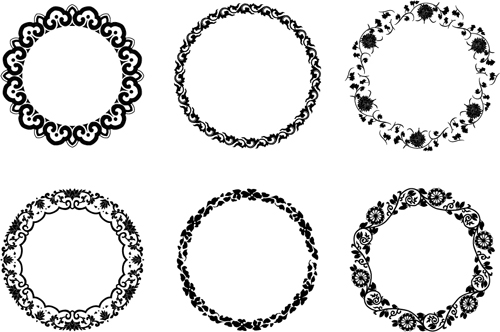 Round floral frame vectors welovesolo round frame floral thecheapjerseys Images