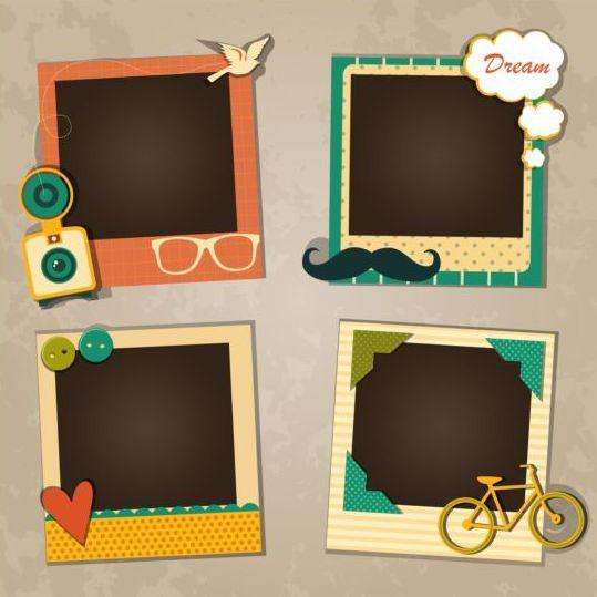 Funny photo frame vectors set 05 - WeLoveSoLo