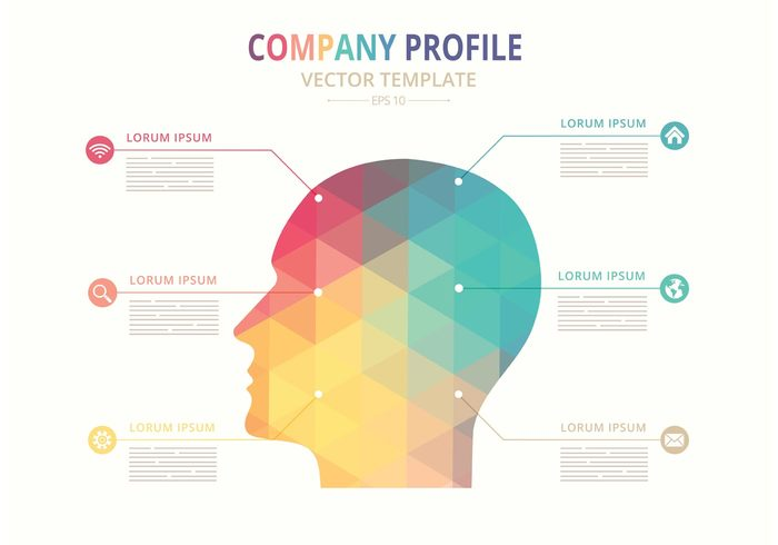 Free Vector Company Profile Template  Welovesolo