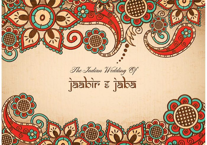 Free Vector Colorful Indian Wedding Card Welovesolo