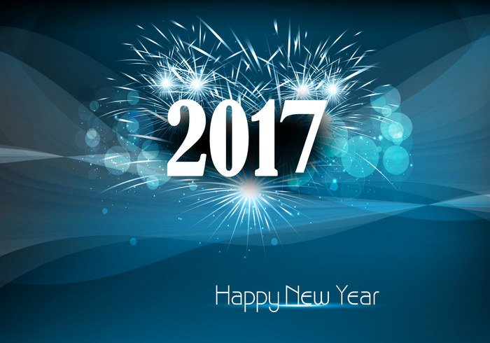 happy new year 2017 with fire cracker welovesolo