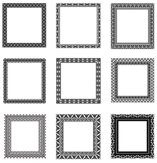 Square black frame vector set 01 - WeLoveSoLo