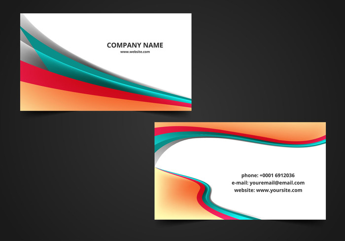 Free vector wave visiting card background welovesolo wavy wave visiting card visiting template real estate visiting card design presentaion office modern identity corporate reheart Image collections