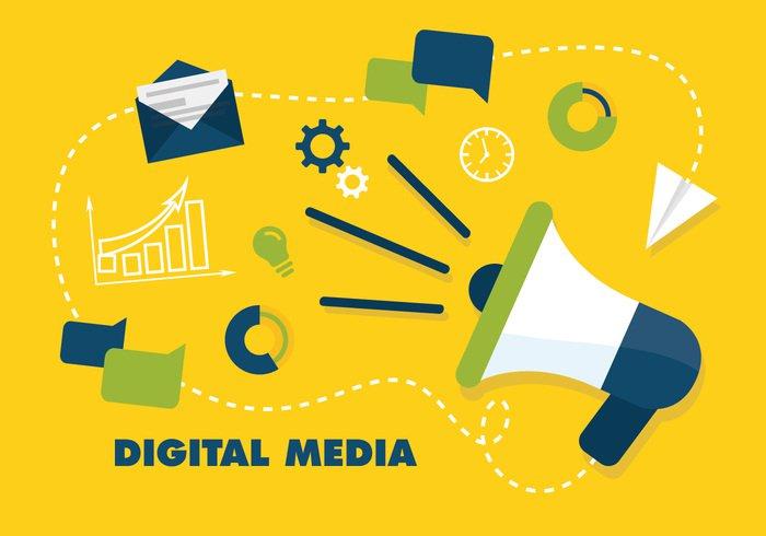 free flat digital marketing vector background 260854 welovesolo free flat digital marketing vector