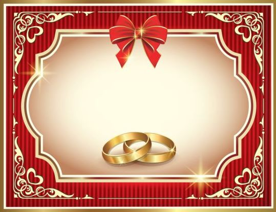 Ornate red wedding greeting cards vector 02 WeLoveSoLo