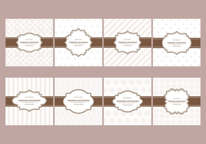 Free Elegant Wedding Cards Pattern Designs - WeLoveSoLo