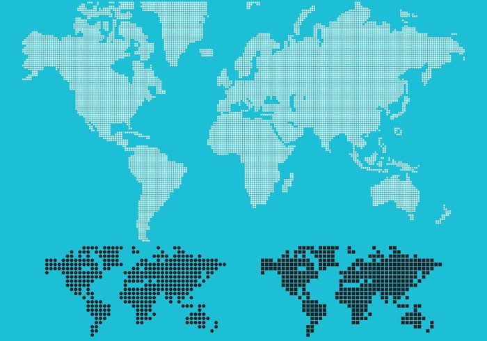 Dotted world map vector welovesolo gumiabroncs Images