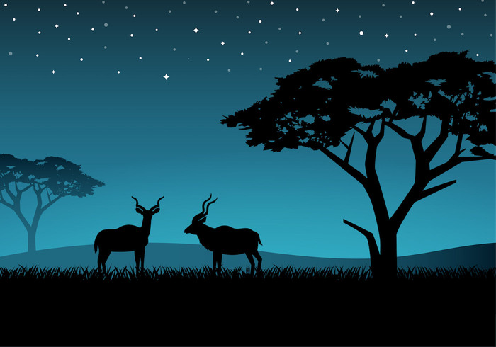 wildlife wild vector tree tourism stars standing south sky silhouette Savannah savanna safari park Outdoor one nature national mammal male late kudu illustration horn grass game field exotic evening Buck blue background animal agile afternoon african africa Adult