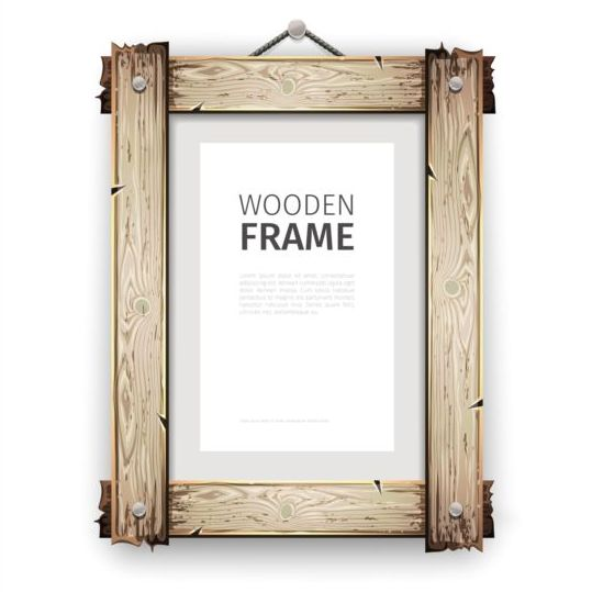 Creative wooden photo frames vector set 04 - WeLoveSoLo
