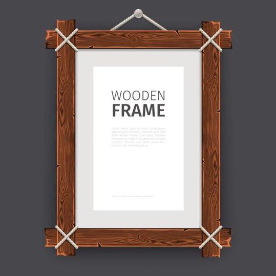 714afbdf988 Creative wooden photo frames vector set 02 - WeLoveSoLo