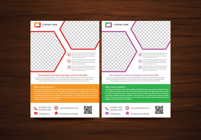 vector brochure flyer design layout template in a4 size 263351 welovesolo