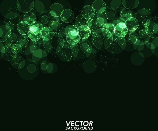 Green Light Circle With Dark Background Vector Welovesolo