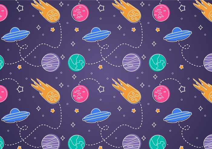 Free Space Seamless Pattern Background Illustration - WeLoveSoLo