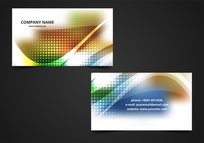 Free Vector Colorful Visiting Card Background