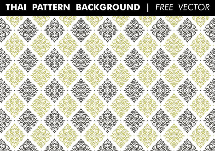 Thai Pattern Background Free Vector - WeLoveSoLo