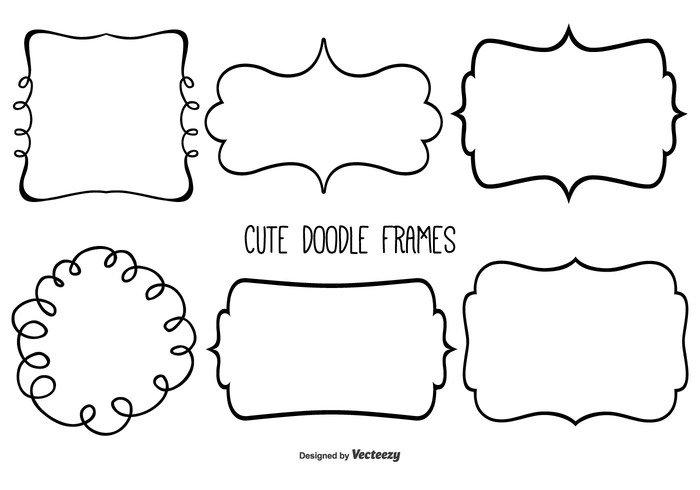 cute doodle frame set welovesolo