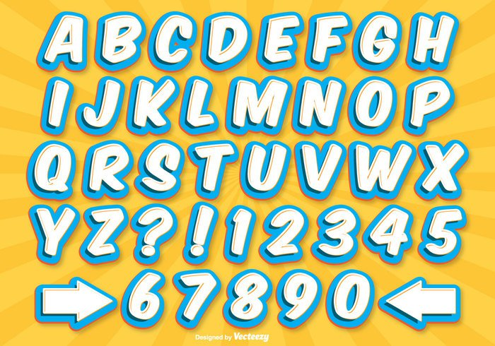 Comic Style Alphabet Set 266319