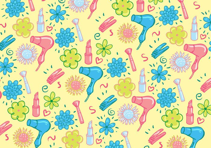 Cute Girly Pattern Vector