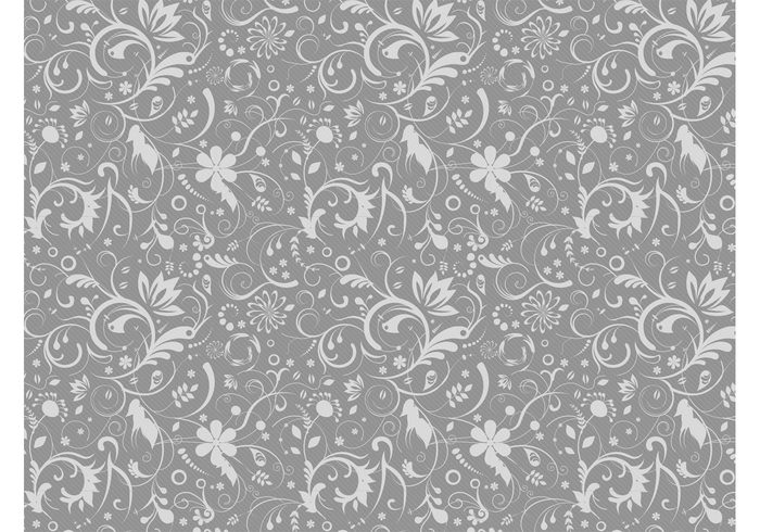 Gray Floral Pattern Welovesolo