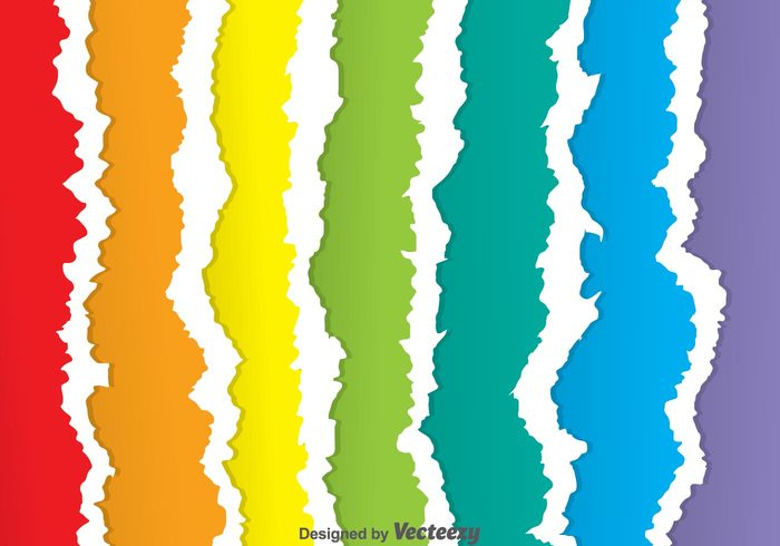 vertical torn stripe scrap ripped papers ripped paper banner ripped paper background ripped paper ripped rainbow paper pagee page note layer colorful ripped paper colorful background