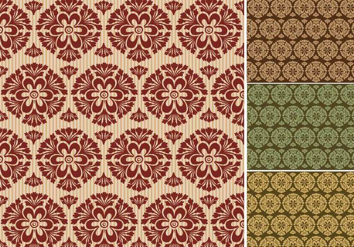 Wallpaper Vector Pack Of Seamless Retro Wallpapers 269045