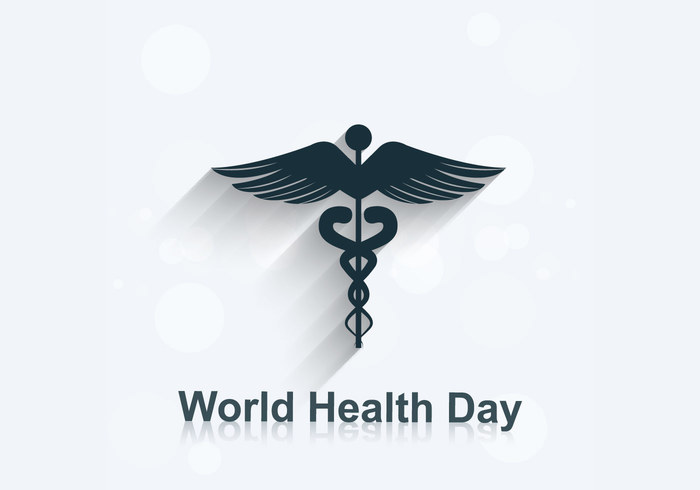 World Health Day With Medical Symbol