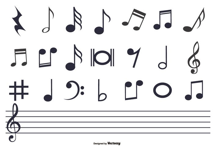 Music Notes Set Welovesolo