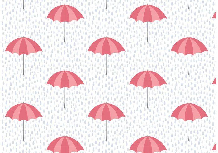 Wet Weather Pattern Background Water Wallpaper Umbrellas Umbrella Seamless Repeat Rainy Raining