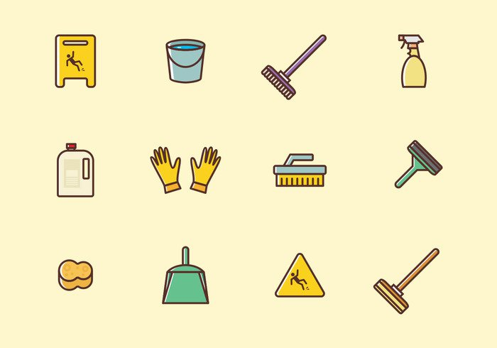 cleaning icons set welovesolo