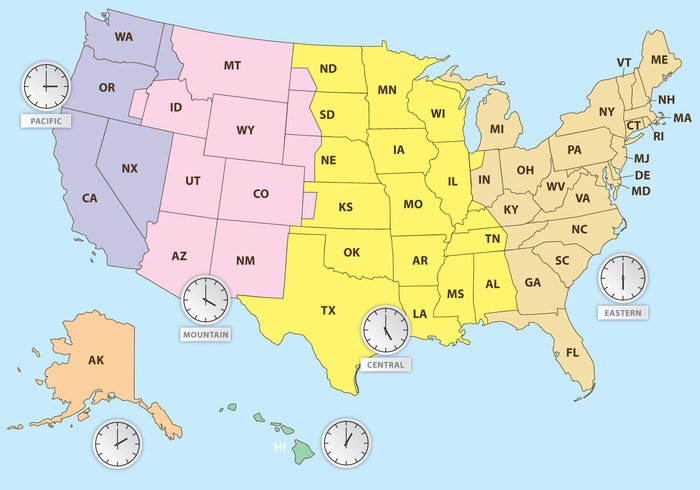 Time Zones Of US Map - WeLoveSoLo